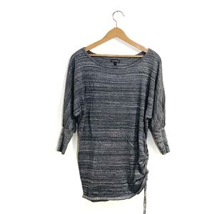 Express Sparkly Tunic w Drawstring Cinched Side
